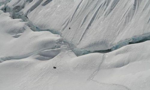 PERU / brak / Cordillera Blanca / widać 3 Basków schodzących ze sciany