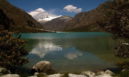 Zdjecie PERU / Andy, Kordyliera Biała / Park Narodowy Huascaran / Jezioro Llangan