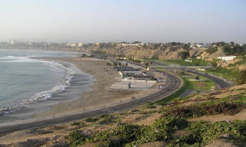 PERU / Lima / dzielnica Barranco / spacer promenadą