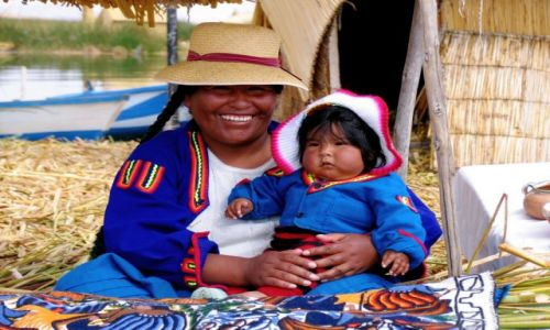 Zdjecie PERU / brak / Jezioro Titicaca / Indianka z plem