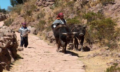 Zdjecie PERU / Altiplano / Jezioro Titicaca / Mieszkańcy Wyspy Taquile
