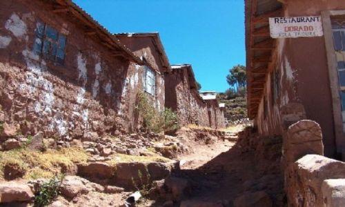 Zdjecie PERU / Altiplano / Jezioro Titicaca / Miasteczko Taquile