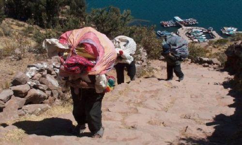 Zdjecie PERU / Altiplano / Jezioro Titicaca / Powrót z miasta - Wyspa Taquile
