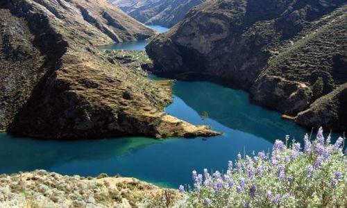PERU / centralne Peru / Yauyos / jeziora rynnowe