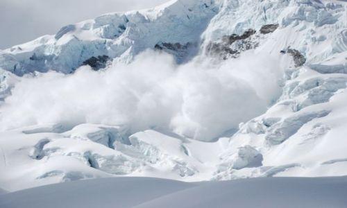 Zdjęcie PERU / Cordillera Blanca / Huascaran / lawina na Huascaranie 6746 mnpm,