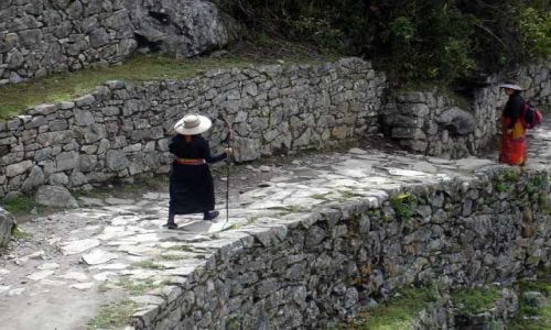 PERU / brak / Machu Picchu / Droga od Bramy Slonca do ruin Machu Picchu