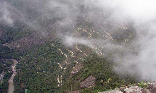 PERU / brak / Wayna Picchu / Widok na droge do Machu Picchu z Wayna Picchu