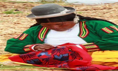 Zdjecie PERU / wyspa Uros / jezioro Titicaca / robótki ręczne....