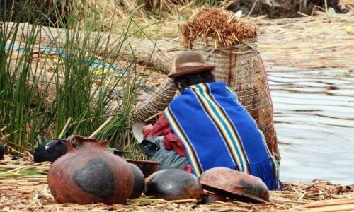 Zdjecie PERU / jezioro Titicaca / wyspa Uros / manualna
