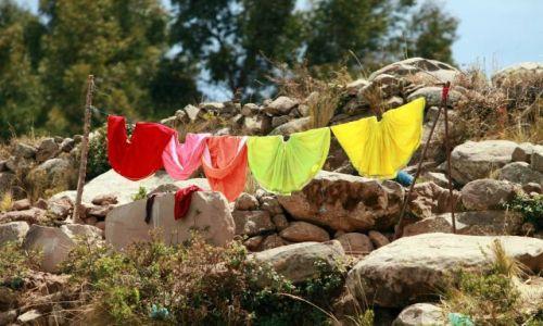 Zdjecie PERU / jezioro Titicaca / wyspa Taqila / spódnice...tym razem na sznurze :D