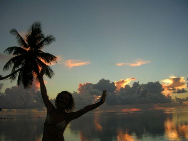 Zdjęcia: Północna część, Wyspa MOOREA, Pożegnanie dnia, POLINEZJA FRANCUSKA