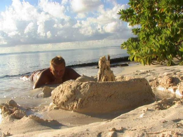 Zdjęcia: środek atolu ( 8 km do wioski) pole namiotowe, Wyspa Fakarava, Można trochę odpocząć, POLINEZJA FRANCUSKA