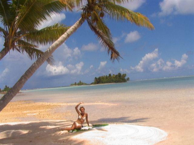 Zdjęcia: środek atolu ( 8 km do wioski) pole namiotowe, Wyspa Fakarava, Samotne wysepki, POLINEZJA FRANCUSKA
