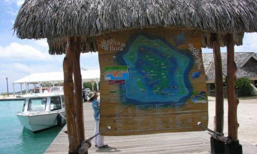 Zdjęcie POLINEZJA FRANCUSKA / Bora - Bora  / Yachtclub / Tablica informacyjna