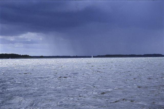 Zdjęcia: JEZ. DARGIN, MAZURY, burza, POLSKA