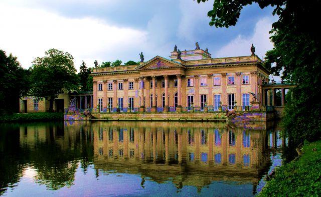 Zdjęcia Warszawskie łazienki Pałac Na Wodzie Polska