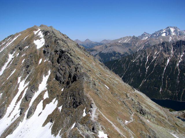 Zdjęcia: Widok ze Szpiglasowego Wierchu, Tatry Wysokie, Miedziane 2233 m. n. p. m., POLSKA