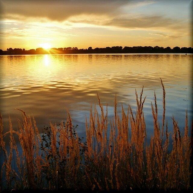 Zdjęcia: Zalew Zemborzycki, Lubelszczyzna, W blasku zachodzącego słońca, POLSKA