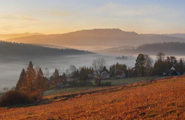 Zdjęcia: Beskidy, Śląskie, jesień w Beskidach, POLSKA