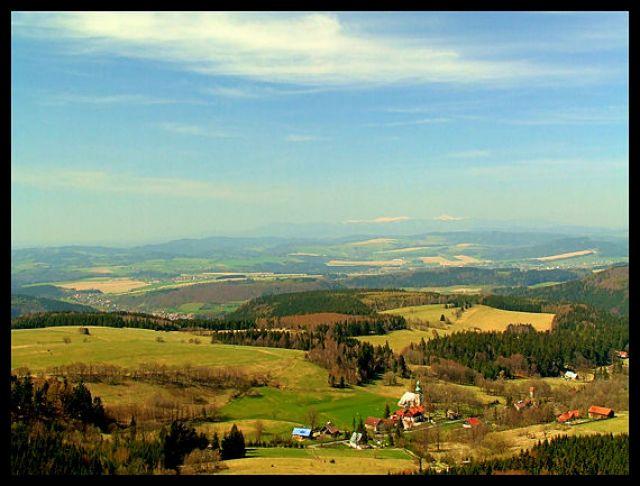 Zdjęcia: szczeliniec, Góry stołowe, widok ze szczelinca, POLSKA