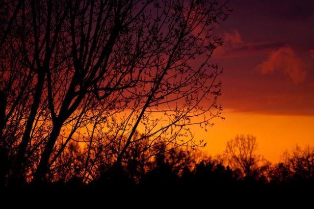 Zdjęcia: Zielonka, Zachód słońca..., POLSKA