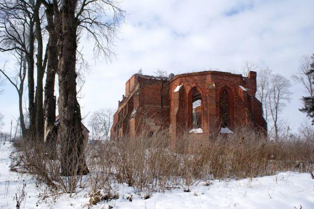 Zdjęcia: Żuławy Elbląskie, warmińsko-mazurskie, Ruiny kościoła w Fiszewie (XIV-XV w.), POLSKA