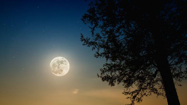 Zdjęcia: Ruciane Nida, Mazury, Perigee full moon, POLSKA