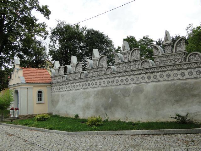 Zdjęcia: Trzebina, opolskie, Renesansowy mur okalający ruiny, POLSKA