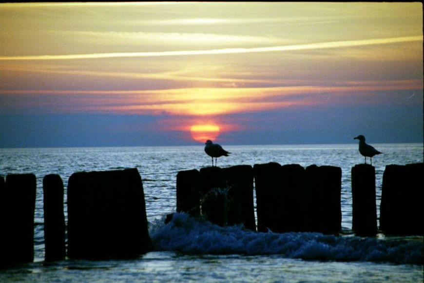 Zdjęcia: Dziwnówek, wybrzeże, zachód słońca nad Bałtykiem, POLSKA