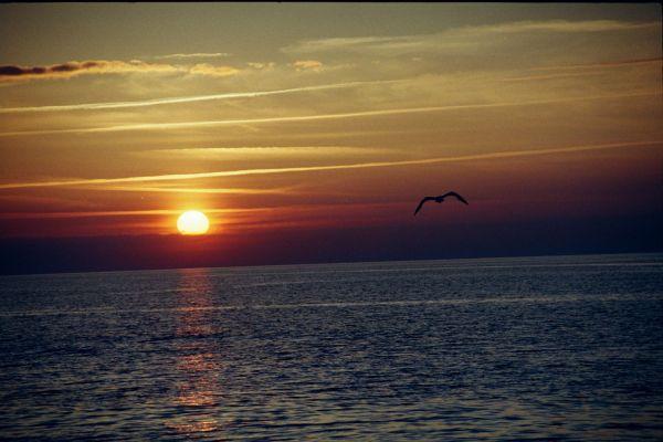 Zdjęcia: Dziwnówek, wybrzeże, zachód słońca, POLSKA