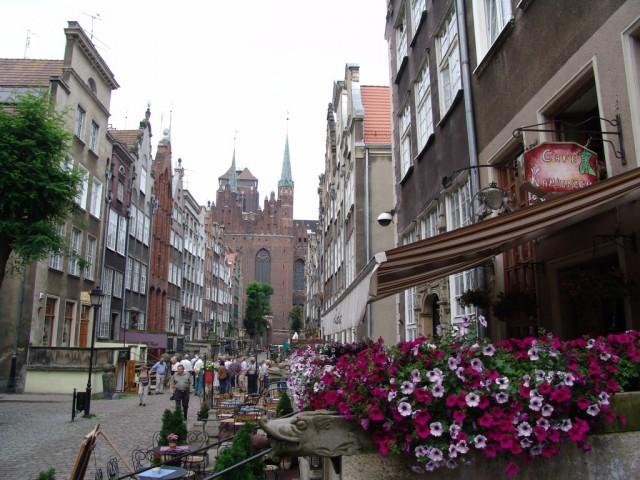 Zdjęcia: Gdańsk, Pomorze, Mariacka, widok od Motławy, POLSKA