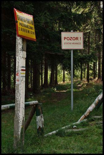 Zdjęcia: Pokrzywna, Góry Opawskie, granica, POLSKA