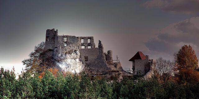 Zdj�cia: Bobolice , jura krakowsko-cz�stochowska, zamek w Bobolicach, POLSKA