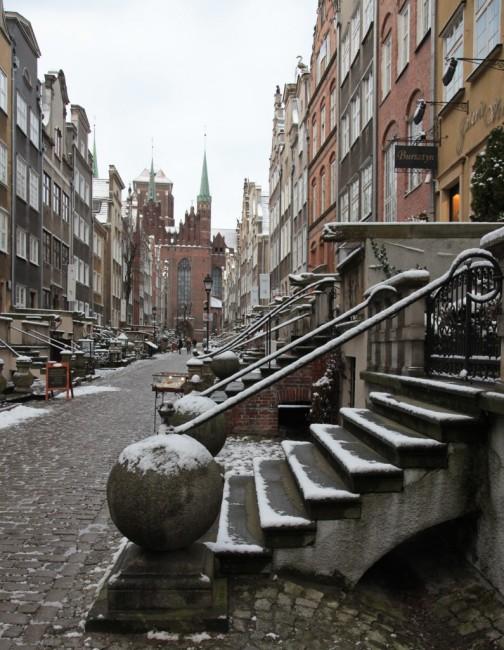 Zdjęcia: Gdańsk, ul. Mariacka, Pomorze, Schody i przedproża, POLSKA
