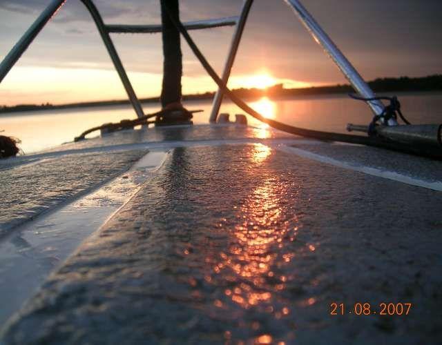 Zdjęcia: Zalew Sulejowski, Zachód słońca na łódce, POLSKA