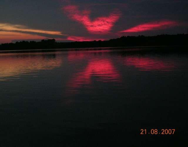 Zdjęcia: Zalew Sulejowski, Niebo po zachodzie słońca, POLSKA