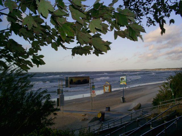Zdjęcia: Ustka, polskie morze o zmierzchu, POLSKA