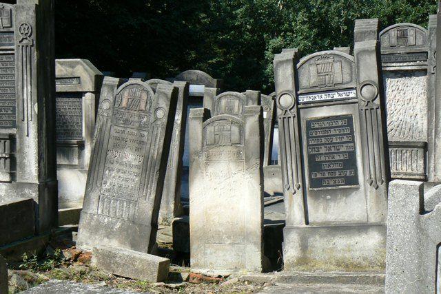 Zdj�cia: Cmentarz �ydowski, ��d�, Nagrobki, POLSKA