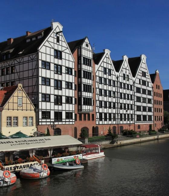 Zdjęcia: Gdańsk, nad Motławą, Pomorze, Gdańskie spichlerze, POLSKA
