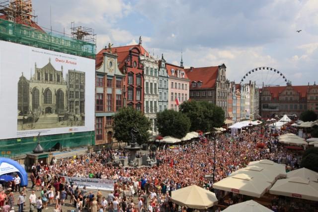 Zdjęcia: Gdańsk, Długi Targ, Pomorze, Gdańszczan portret własny, POLSKA