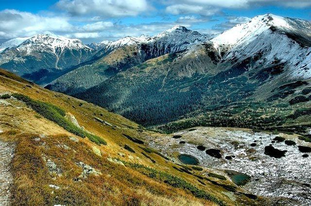 Zdjęcia: widok z Siwej Przełęczy, Tatry, widok z Siwej Przełęczy, POLSKA