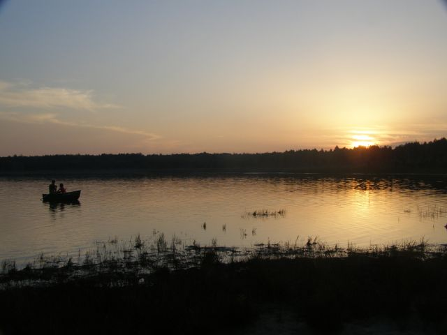 Zdjęcia: j. Piaseczno, Poj. Łęczyńsko-Włodawskie, Zachód Słońca Nad Jeziorem, POLSKA