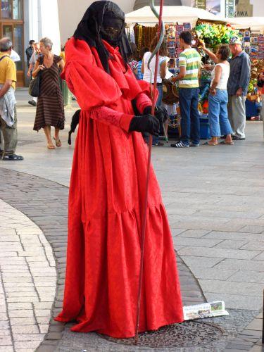 Zdjęcia: Kraków, Lady in red, POLSKA