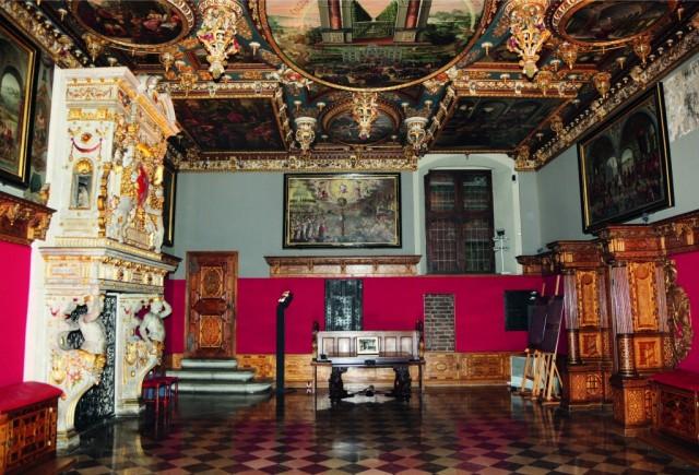 Zdjęcia: Gdańsk, Ratusz Głównego Miasta Gdańska, Pomorze, Wielka Sala Rady (prawa strona, od wejścia), POLSKA