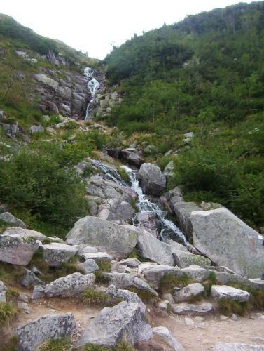 Zdjęcia: Czerwony szlak na Snieżkę, Karkonosze, Wodospad Łomniczka, POLSKA