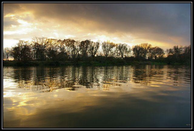 Zdjęcia: rzeka Odra koło Krapkowic, Ślask Opolski, zachód słońca 2, POLSKA