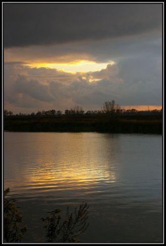 Zdjęcia: rzeka Odra koło Krapkowic, Ślask Opolski, zachód słońca 4, POLSKA