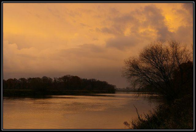 Zdjęcia: rzeka Odra koło Krapkowic, Ślask Opolski, zachód słońca 6, POLSKA