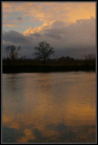 Zdjęcia: rzeka Odra koło Krapkowic, Ślask Opolski, zachód słońca 7, POLSKA