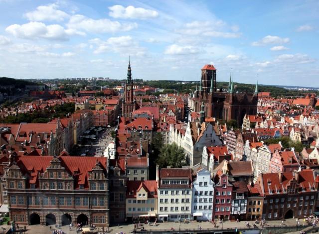 Zdjęcia: Gdańsk, Pomorskie, Gdańsk prawie z lotu ptaka, POLSKA